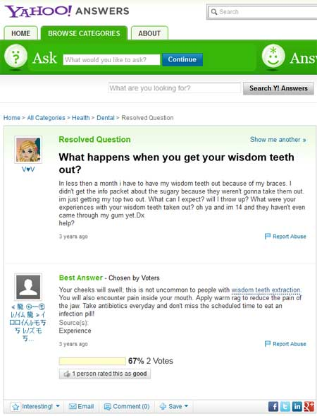 yahoo answers wisdom teeth out - Aggressive Dental Marketing Practices