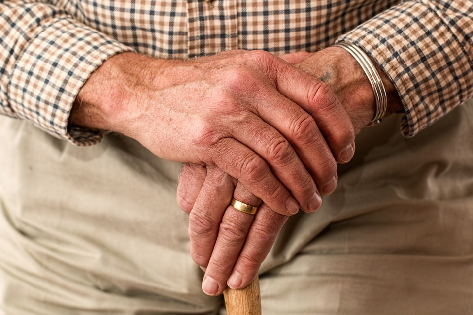 eldery man hands - How To Manage Dental Anxiety in Elderly Patients